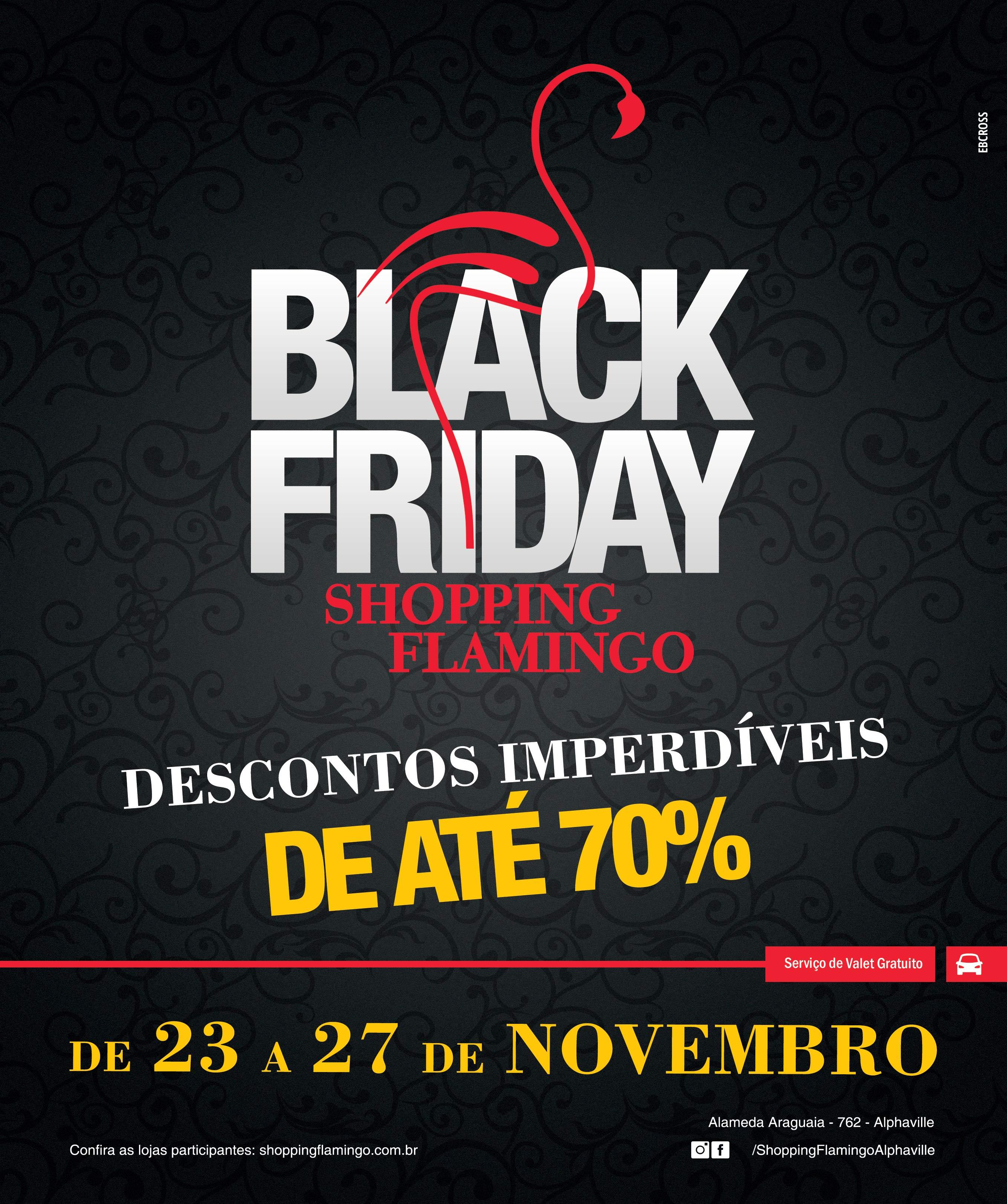 ccdcb521fb5f7 Black Friday do Shopping Flamingo terá produtos com até 70% de desconto